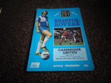 Bristol Rovers v Cambridge United, 1980/81